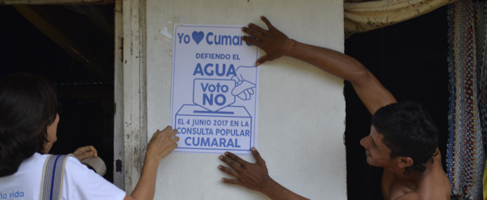 Colombia, Cumaral against mining
