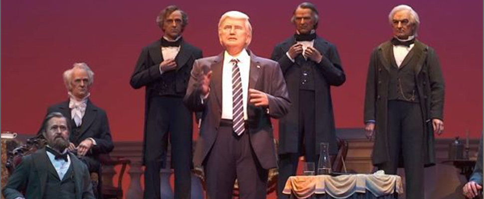 Disney: a Trump robot is now part of the Hall of Presidents